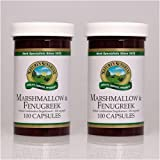Naturessunshine Marshmallow & Fenugreek Respiratory System Support 100 Capsules (Pack of 2)
