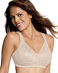 Playtex Women\'s 18 Hour Ultimate Lift And Support Wire Free Bra, Nude, 44C