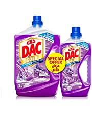 DAC Gold Disinfectant Multi-Purpose Cleaner - Lavender (3 Litres + 1 Litre), for 99.9% Germs and Bacteria Removal, with Long-Lasting Cleanliness and Freshness