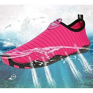L-RUN Women and Men Walking Sneakers Water Shoes Lightweight Barefoot Navy