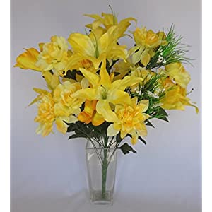 V-Max Floral Decor Tiger Lily/Amaryllis/Rose/Dahlia Mixes Bush x 36