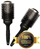 6th Sense Ceramic Ionic Natural Boar Bristle Round Brush w Nano Technology for Fast Hair Drying Blowouts & Superb Shine; Vented Professional 2 Inch Barrel