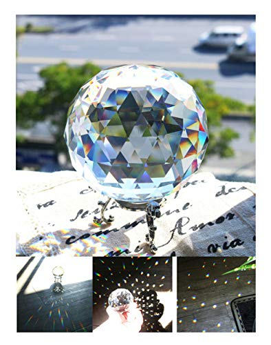 (H&D Crystal Clear Faceted Crystal Ball 80mm 3.14