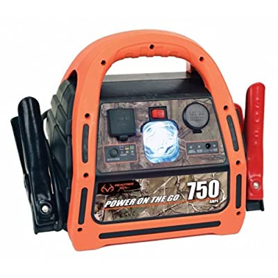 RealTree 10033 750A Power Pack 110V - 100W Inverter with 12V Power Outlet with LED Work Light
