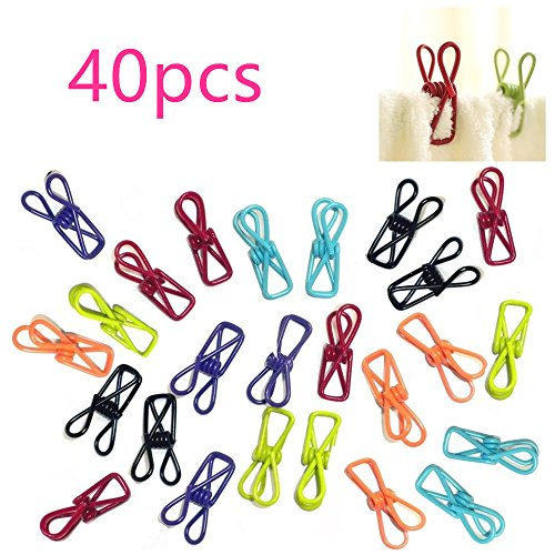 Dealzip Inc 40 pcs Useful PVC-Coated Steel Wire Clips Memo P