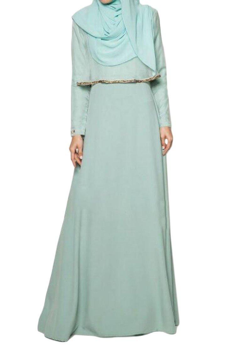 MirrorWomen Mirror Women\'s Muslim Abaya Islamic Turkey Fake Two Maxi ...