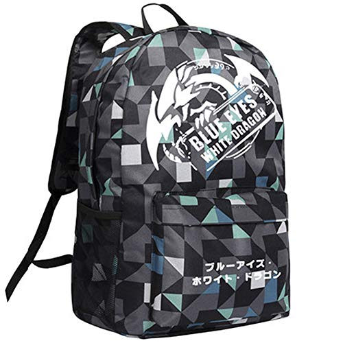 Yugioh Backpack Millenium Puzzle Student Schoolbag Anime Cosplay Bookbag -