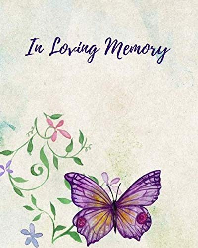 Printable Butterfly - In Loving Memory: Funeral Guest Book,