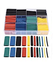 530pcs/set Heat Shrink Tubing Insulation Shrinkable Tube Assortment Electronic Polyolefin Wrap Wire Cable Sleeve Kit