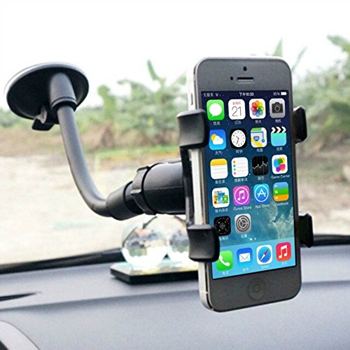 Price comparison product image Wpc Universal car mount for smartphones, GPS, premium Windshield Dashboard Car Mount Holder for All Kinds of Smart Phone Black 1