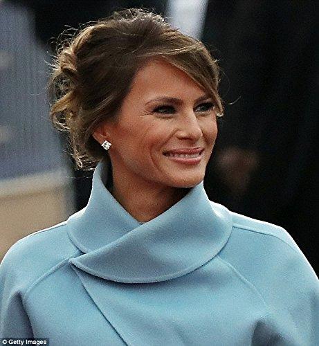 First Lady Melania Trump Inauguration of President Donald Trump Princess Cut Earrings