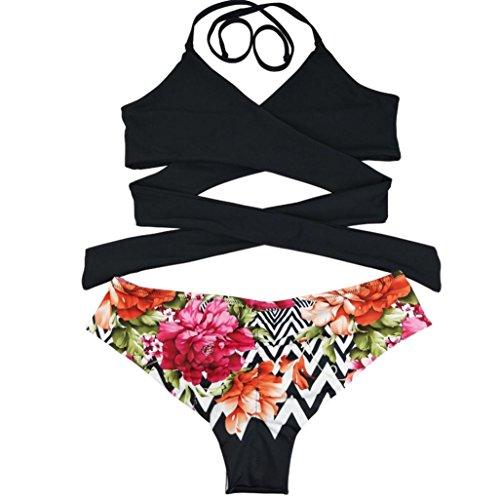 Da up Vita Nuovo Spiaggia Donna Coordinati Slip Perizoma Byste Imbottito sexy Stampa Costume Bianca Bagno Capestro Bagno Bassa Bikini Beachwear Lace Reggiseno Costumi 5w7WpS