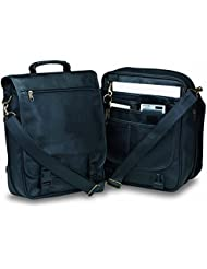Deluxe Business Briefcase Attache Messenger Bag Backpack, Black by BAGS FOR LESS