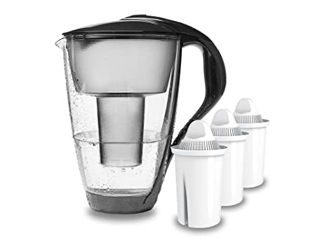 anthracite PearlCo Water Filter Standard compatible with Brita/® Classic incl 1 Filter Cartridge