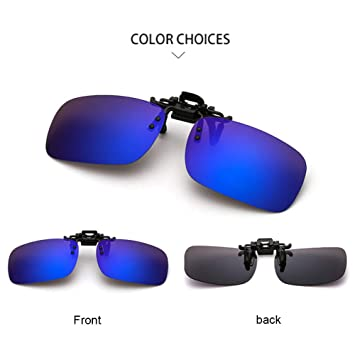 UV400 Polarisierte Sonnenbrille Clip on Flip up Sonne Linsen