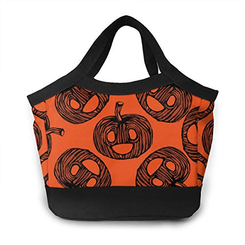 (GNUDORMGE Autumn Pumpkin Men & Women Lunch Box 8.5 X 8.5 X 4.6 Inch Waterproof Insulated Lunch Bag Large Cooler Tote Bags Meal Prep for Boys Girls Adults,Lunch Box)