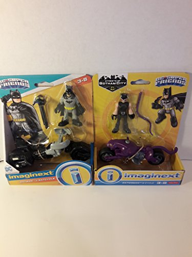 Toy Batman Cycle & Catwoman Cycle HOT Seller Legends of Super -