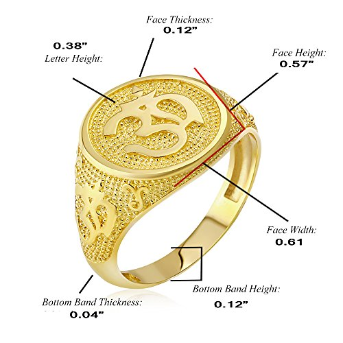 Men's 10k Yellow Gold Textured Band Hindu Om (Aum) Yoga Ring (Size 9) by Men's Fine Jewelry (Image #1)