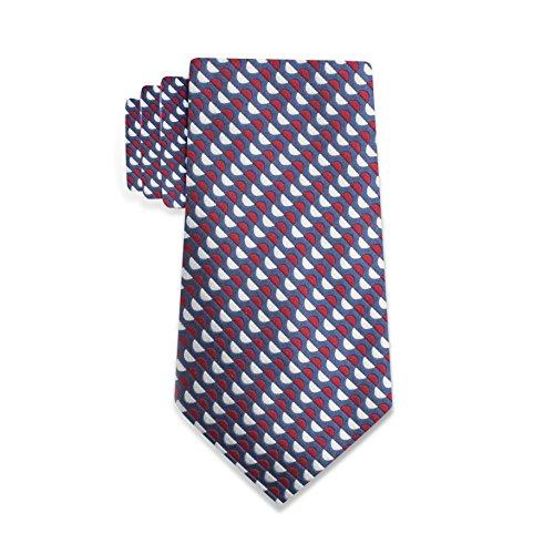 Countess Mara 100% Silk Lucca Geometric Men's Tie – Made In Italy (Red) (Countess Mara Woven Tie)