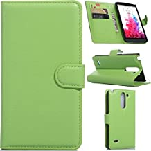 LG G3 Stylus / D690 Case, LG G3 Stylus / D690 Wallet Case, Gift_Source Brand - Green PU Leather Case with STAND Flip Case Cover for LG G3 Stylus / D690(Not for LG G3) Sent Stylus Pen