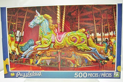 (Puzzlebug 500 Piece Puzzle - Blue Carousel)