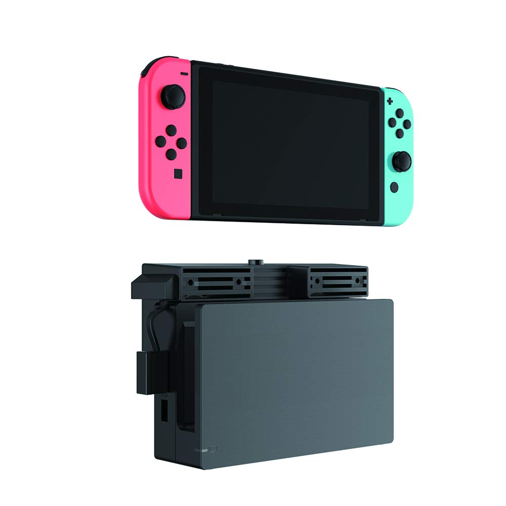 Nintendo Switch Radiator External Cooling Fan Compatible with Nintendo Switch Console, Portable Holder, Brackets & Stands for Nintendo Switch, Integrated USB Extension Cable and Splitter Adapter Cable