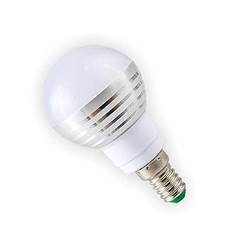 Bombilla Control Remoto,Bombilla Rgb E14 3W Led Rgb Spot Light 85-265V Magic