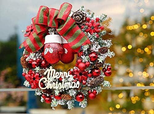Christmas Home Wreath Door Decoration Christmas Decorations Hanging Door Hanging Rattan Christmas Ring(Diameter: 35 cm Thickness: 9 cm)