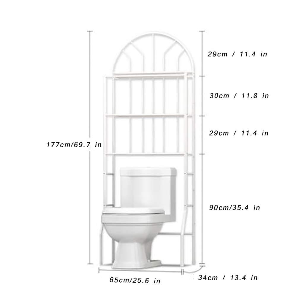 3-Shelf Over The Toilet Storage Rack Bathroom Space Saver Storage Organizer Over The Rack Toilet Cabinet Bathroom Shelves for Home Bathroom Toilet