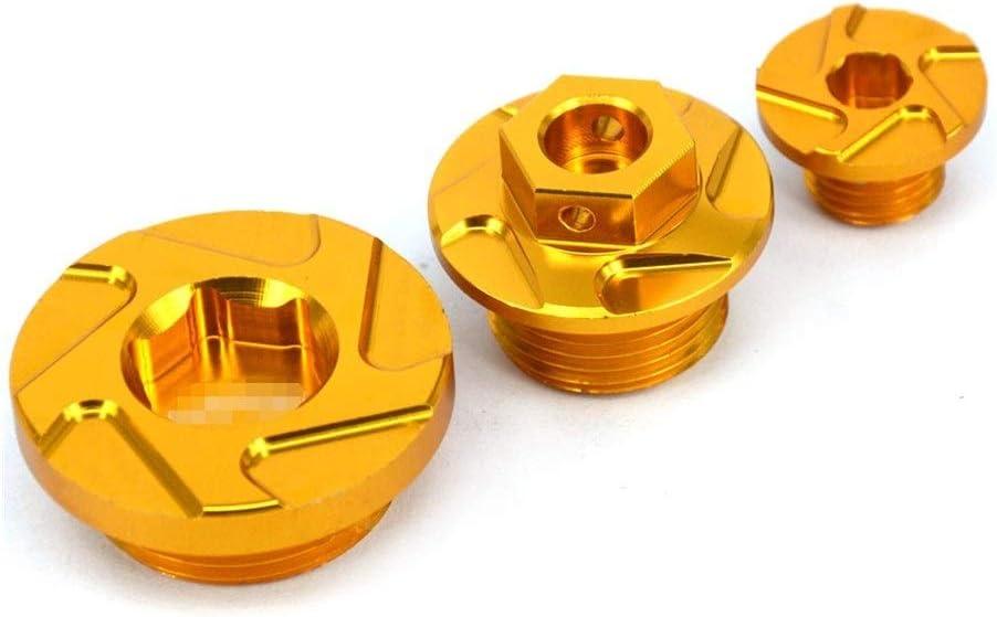 SSGLOVELIN CNC billettes Moteur Carter Filtre /à Huile Bouchons boulons Set for Suzuki RMZ 250 RMZ250 2007-2019 RMZ450 450 2005-2019 RMX450Z 10-19