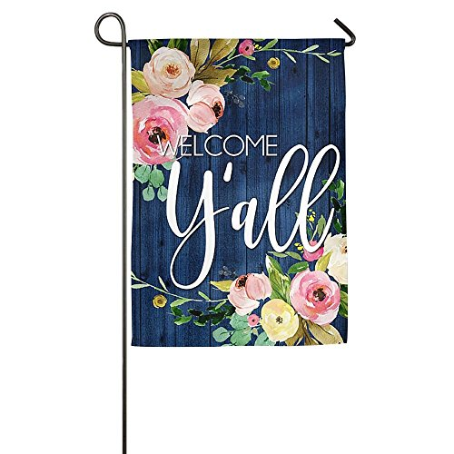 llyaon.iao Destiny'S Flag Personalized Garden Flag - Welcome Y'all Flag 12.5 x 18 Inches