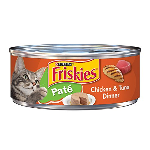 Friskies Wet Cat Food, Classic Pate, Chicken & Tuna Dinner, 5.5-Ounce Can, Pack of 24 by Purina Friskies