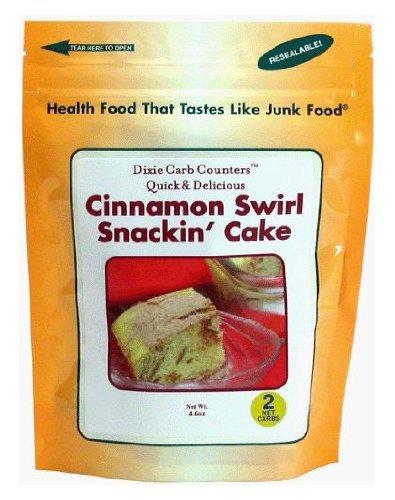 Dixie Carb Counters Quick & Delicious Cinnamon Swirl Snackin' Cake