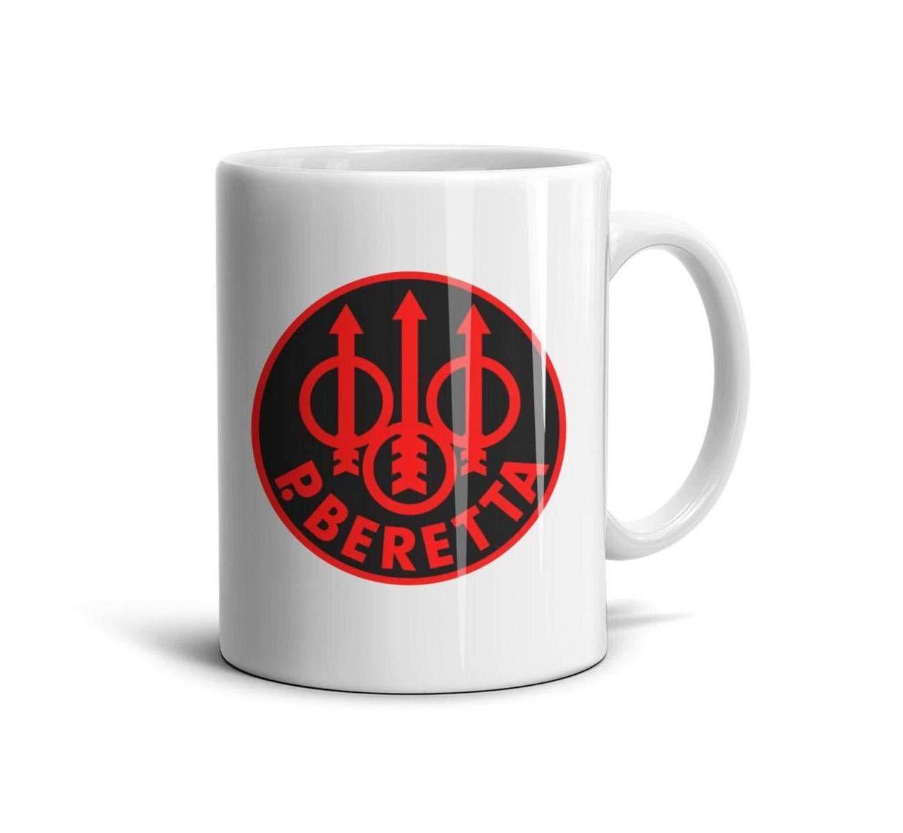 HIYITUTA P. Beretta Logo Coffee Mugs Novelty Daily Use Mug 11 Oz Best Friend Mugs Boyfriend Women
