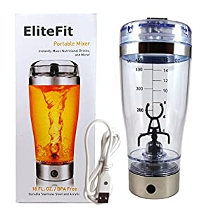 EliteFit Li-Ion USB Rechargeable Vortex Mixer | Portable Electric Workout Supplements & Protein Mixer Shaker Bottle : it came super fast but without the charging cable