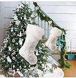 WDNM White Christmas Stocking, 20 Inch Large