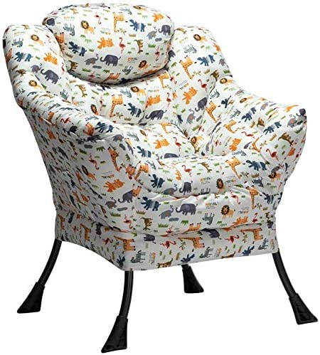 AbocoFur Modern Cotton Fabric Lazy Chair
