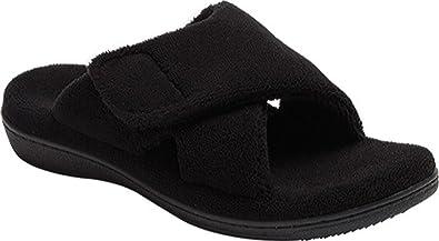 709eb670ecc9 Vionic Relax Slipper Womens Size 5 Black Open Toe Textile Scuffs Shoes
