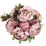 Luyue-Vintage-Artificial-Peony-Silk-Flowers-Bouquet-Home-Wedding-Decoration-Spring-Cameo-Brown