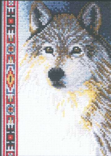 Janlynn Wolf Wildlife Mini Counted Cross Stitch Kit-5