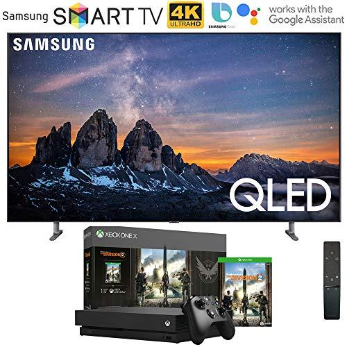 Samsung QN55Q80RA 55″ Q80 QLED Smart 4K UHD TV (2019 Model) with Microsoft Xbox One X 1TB Console Bundle