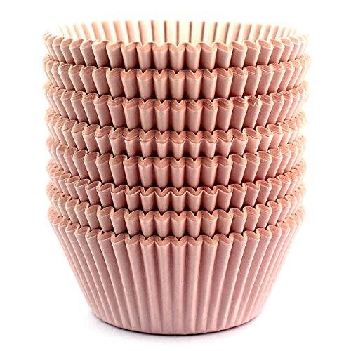 Eoonfirst Standard Size Baking Cups 200 Pcs (Light Pink)