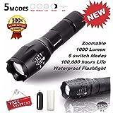 Tactical LED Flashlight G700 SkyWolfeye X800 Zoom Super Bright Military Grade