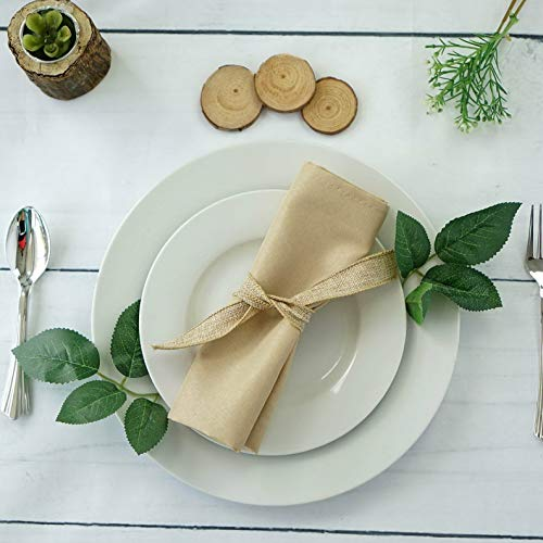 Mikash 20 Polyester Fabric Napkins Wedding Party Dinner Kitchen Table Decorations | Model WDDNGDCRTN - 5045 | 100 pcs]()