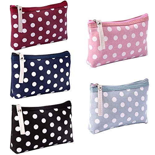 Fashion Design Muliti-Functional Bag Makeup Bag Cosmetic Pouch Travel Toiletry Carrying Purse (Polka Dot(Pink/Red/Sky Blue/Dark Blue/Black)) ()