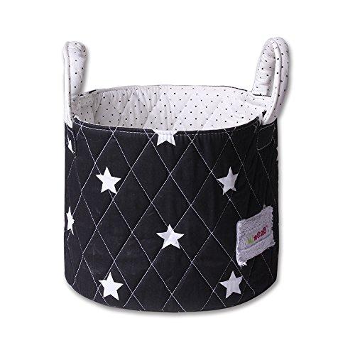 Minene Storage Basket (Small, Black with White Star) 21166