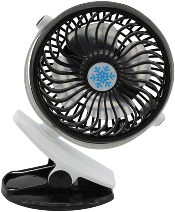 LIOOBO USB Fan Mini Desktop Fan Portable Cooling Fan for Home Office Black