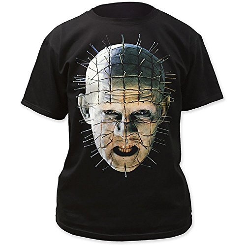 Hellraiser Pinhead Close-Up Big Print Movie Men's Black T-Shirt (M) ()