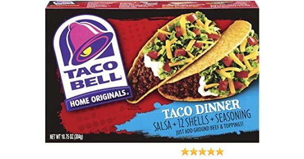 Amazon.com : Taco Bell Home Originals Taco Dinner Kit, 10.75-Ounce Box : Taco Shells : Grocery & Gourmet Food