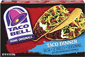 Taco Bell Home Originals Taco Dinner Kit, 10.75-Ounce Box